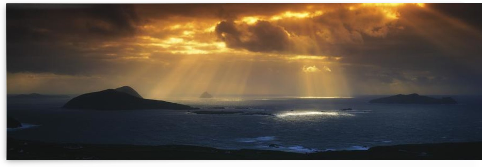 Kenmare Bay, Dunkerron Islands, Co Kerry, Ireland; Sunset Over A Bay by PacificStock