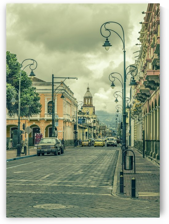 Historic Center Urban Scene at Riobamba City, Ecuador by Daniel Ferreia Leites Ciccarino
