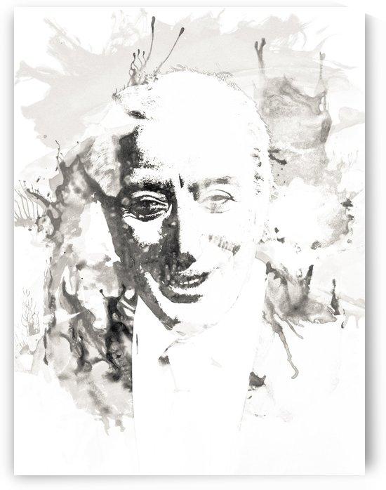 Tony Bennet Art Portrait gray by Pixelme ca