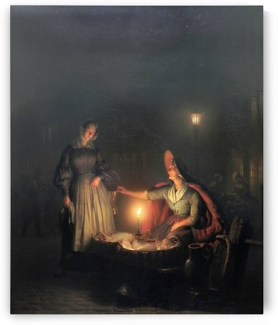 Ladies in the night by Petrus van Schendel