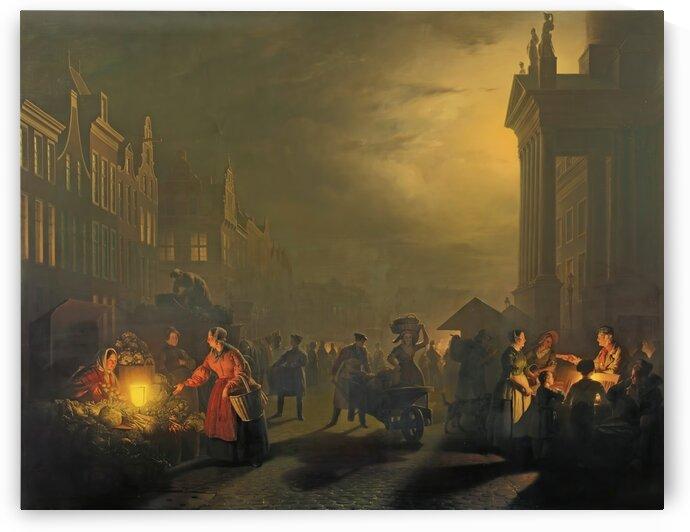 Figures in the market by Petrus van Schendel