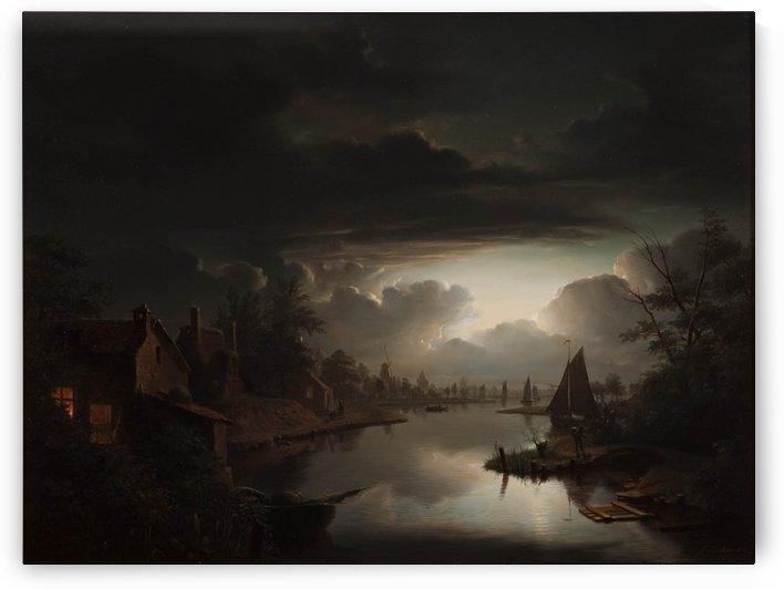 Flemish landscape by Petrus van Schendel