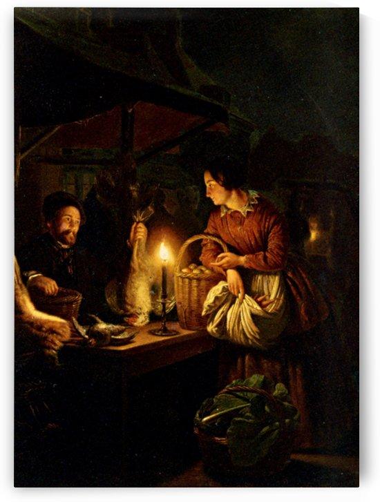 The Candlelit Market by Petrus van Schendel