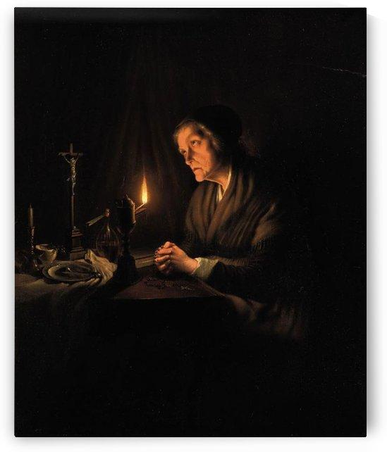 The evening prayer by Petrus van Schendel