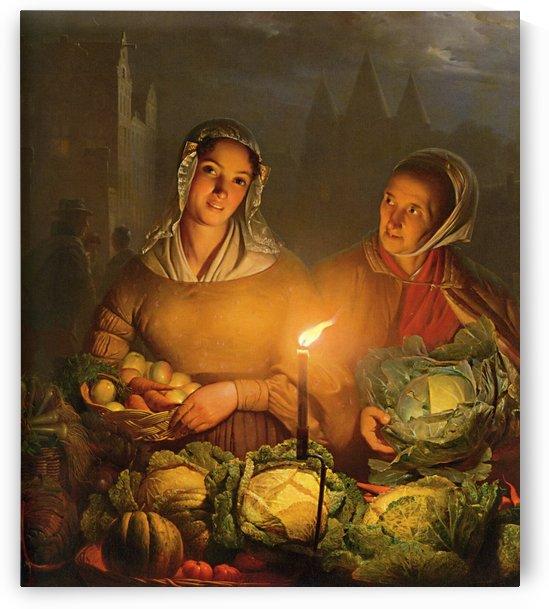Vegetable Market by Petrus van Schendel
