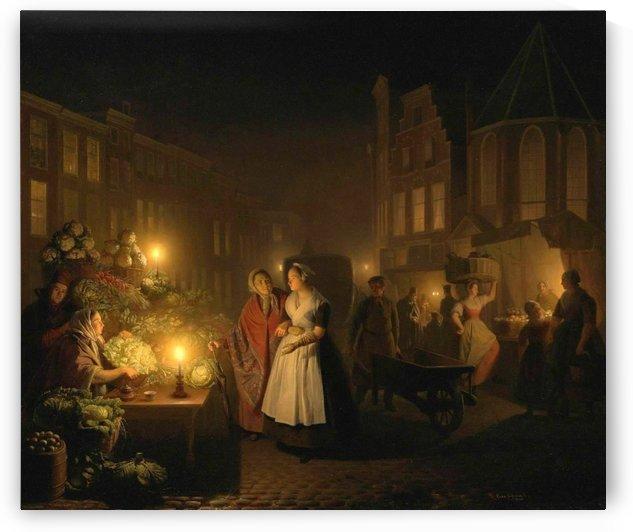The night market by Petrus van Schendel