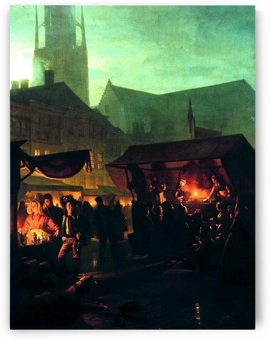 Jaarmarkt by Petrus van Schendel