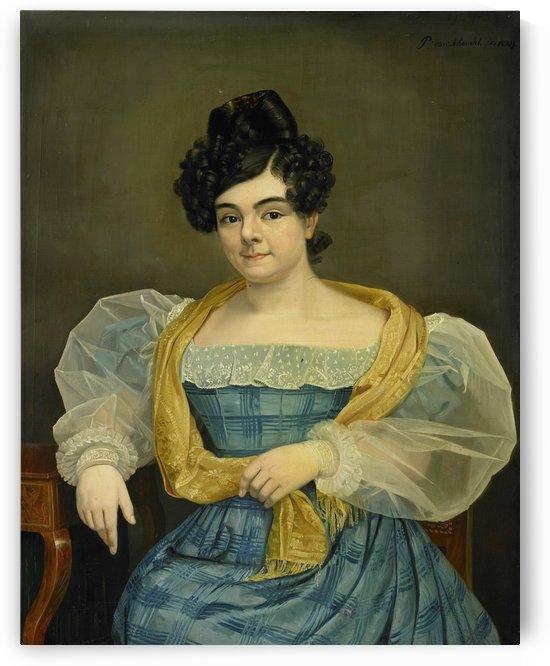 Portrait of Adriana Johanna van Wijck by Petrus van Schendel