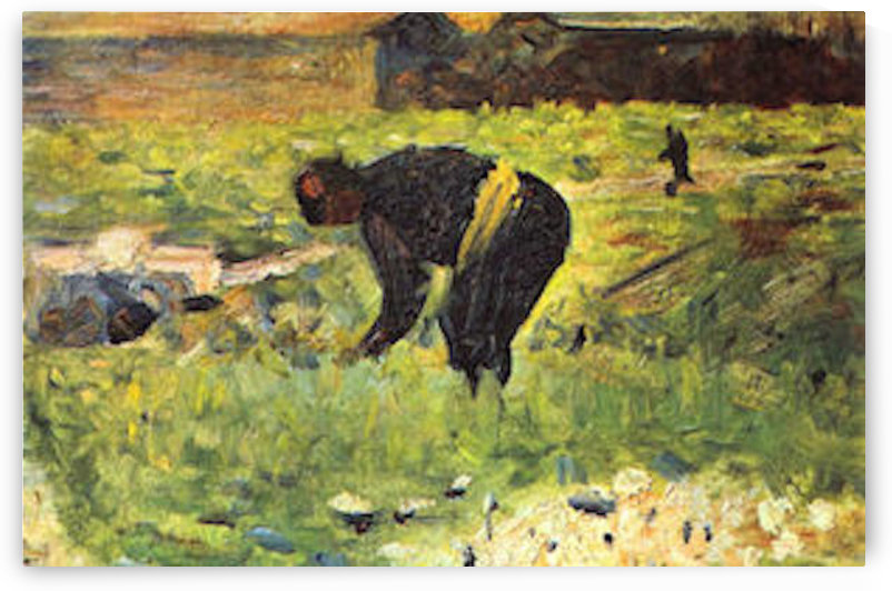 Farmer at work by Seurat by Seurat