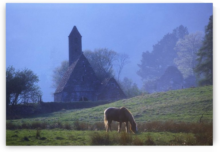 St. Kevin's Kitchen, Glendalough, County Wicklow, Ireland by PacificStock