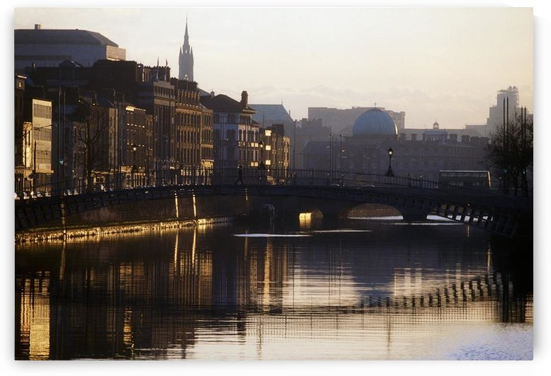 River Liffey, Dublin, Co Dublin, Ireland by PacificStock