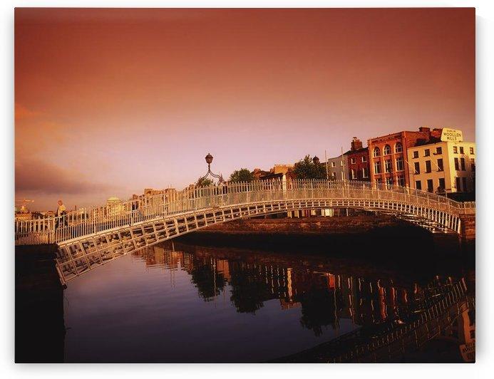 Ha'penny Bridge, River Liffey, Dublin, Co Dublin, Ireland; 19Th Century Bridge Over A River by PacificStock