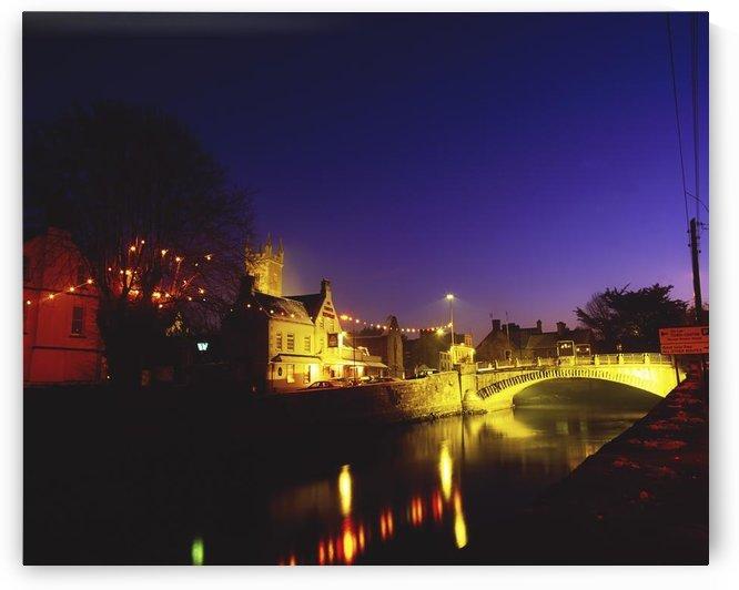 Ennis, Co Clare, Ireland; Bridge Over Placid River by PacificStock