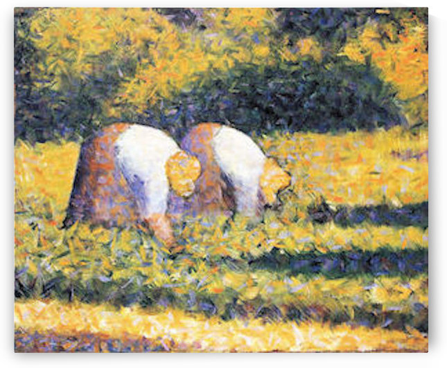 Farmers at work by Seurat by Seurat