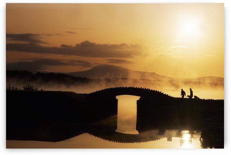 Killarney Golf Course, Co Kerry, Ireland; Silhouetted Golfers by PacificStock