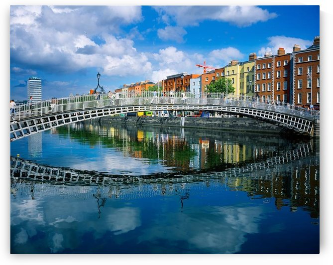 Ha'penny Bridge, River Liffey, Dublin, Ireland by PacificStock