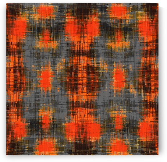 geometric orange brown black and grey painting texture abstract background by TimmyLA