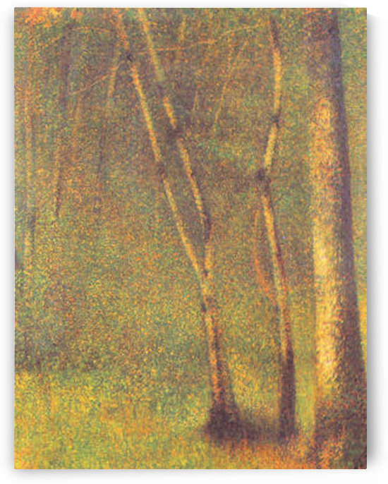 Forest in Pontaubert by Seurat by Seurat