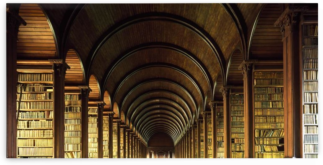 Thomas Burgh Library, Trinity College, Dublin, Ireland by PacificStock