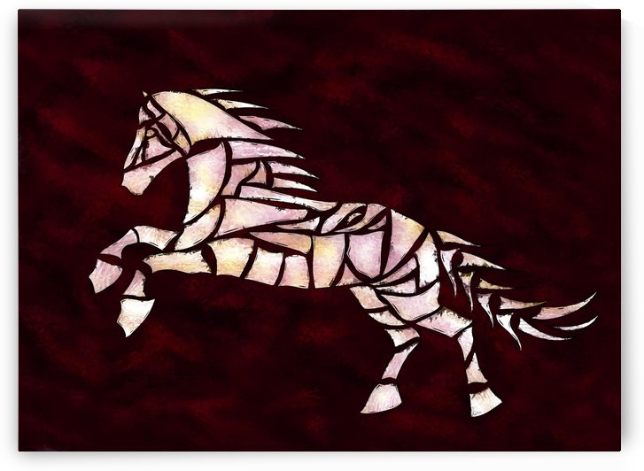 Cavallerone - white horse by Cersatti Art