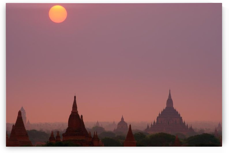 Temples Of Bagan At Sunrise In Bagan, Myanmar, Burma by PacificStock