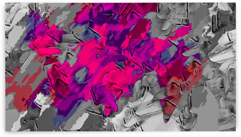 psychedelic pink purple black painting texture abstract background by TimmyLA