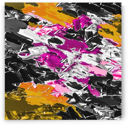 psychedelic purple pink yellow brown black painting texture abstract background by TimmyLA