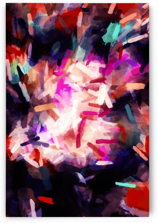 red orange blue purple black abstract painting background by TimmyLA