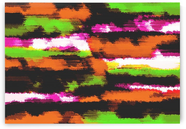 orange black pink green grunge painting texture abstract background by TimmyLA