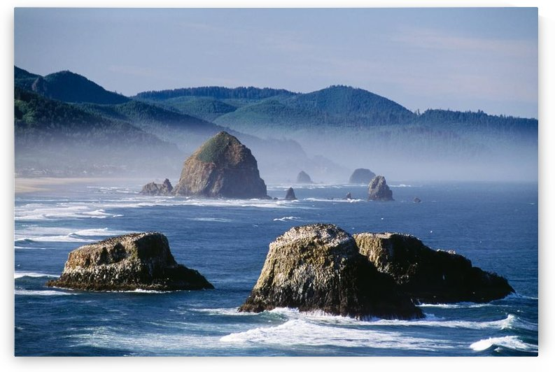Haystack Rock, The Needles And Sea Stacks, Cannon Beach, Oregon, United States Of America by PacificStock