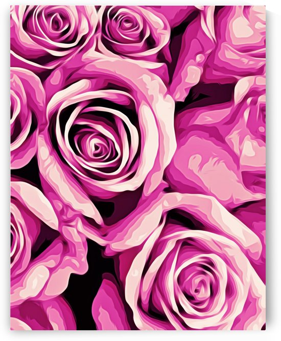 pink roses texture background by TimmyLA