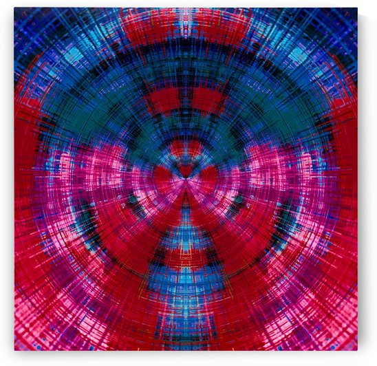 geometric red pink purple and blue circle plaid pattern abstract background by TimmyLA