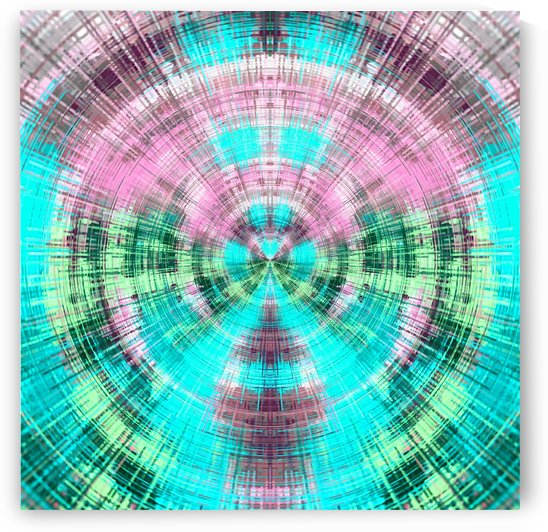 geometric pink blue and green circle plaid pattern abstract background by TimmyLA