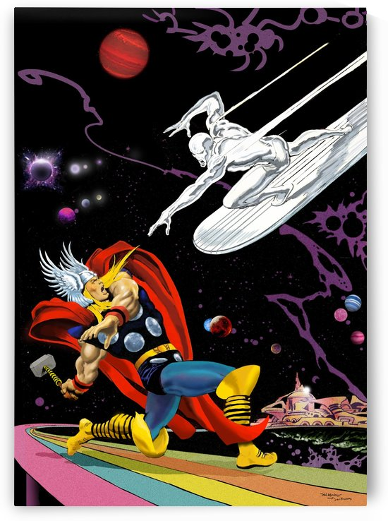 Marvel: Thor vs The Silver Surfer by Dan  Avenell