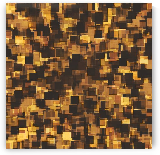 geometric square pattern abstract in brown and black by TimmyLA