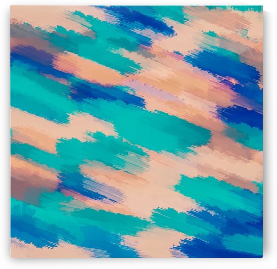camouflage splash painting abstract in pink green and blue by TimmyLA