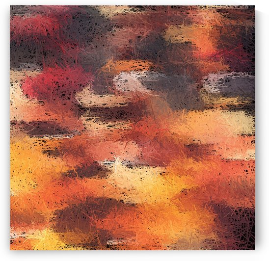 psychedelic camouflage painting abstract pattern in brown orange and black by TimmyLA