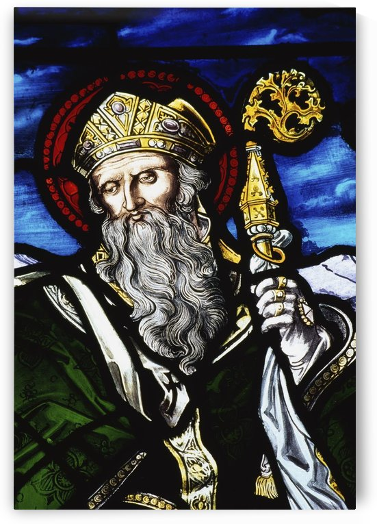 Clogheen, Ireland; St. Patrick On Stained Glass by PacificStock