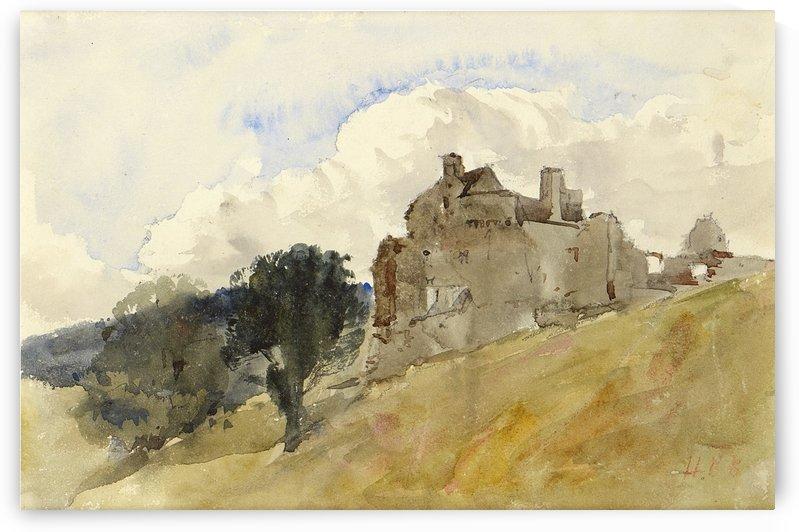 Neidpath Castle by Hercules Brabazon Brabazon