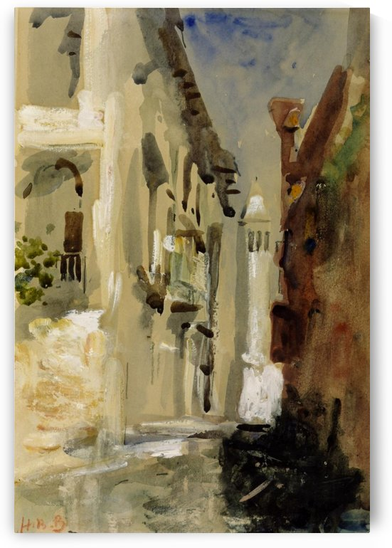 Along a small canal in Venice by Hercules Brabazon Brabazon