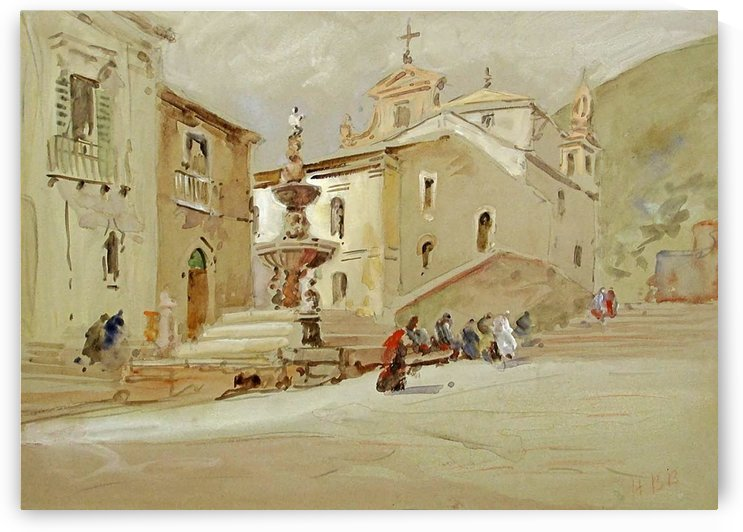 The Fountain, Taormina by Hercules Brabazon Brabazon