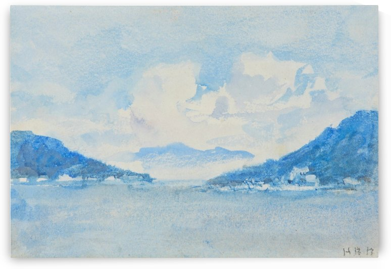 Lake Como view by Hercules Brabazon Brabazon