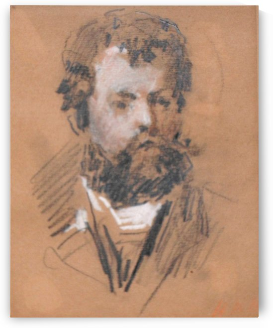 Portrait of William Morris by Hercules Brabazon Brabazon