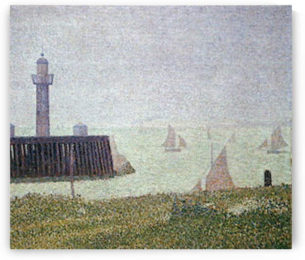 Harbor in Honfleur 2 by Seurat by Seurat