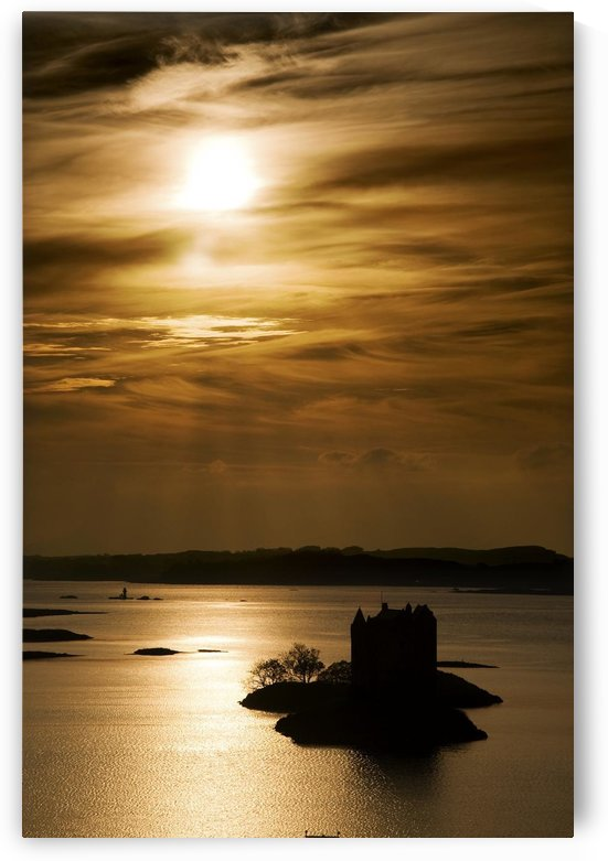 Castle Stalker At Sunset, Loch Laich, Scotland by PacificStock