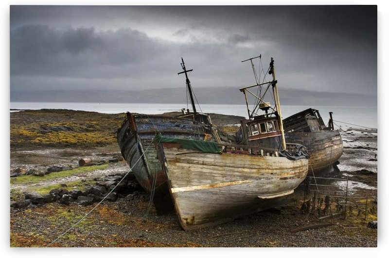 Shipwreck, Isle Of Mull, Scotland by PacificStock