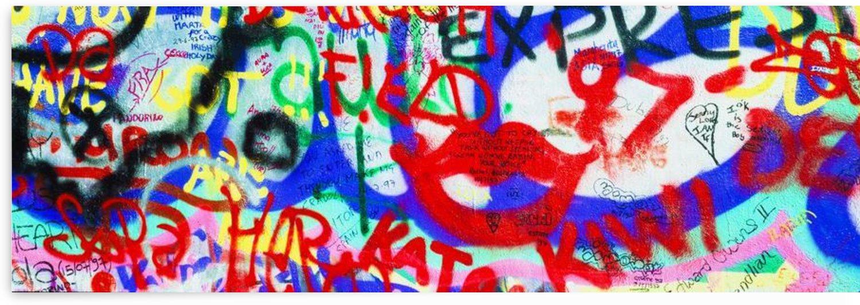 The U2 Wall, Windmill Lane, Dublin, Ireland; Graffiti Covered Wall by PacificStock