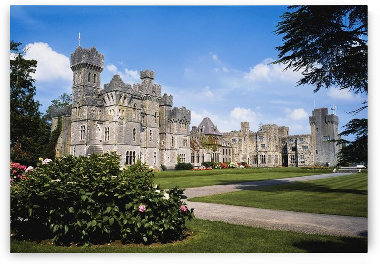 Ashford Castle, County Mayo, Ireland; Exterior Of A 13Th Century Castle by PacificStock