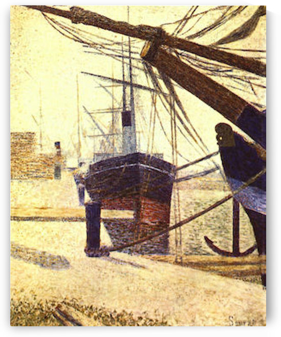 Harbor in Honfleur by Seurat by Seurat