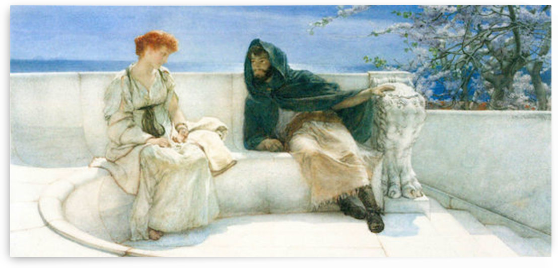 The explaination by Alma-Tadema by Alma-Tadema